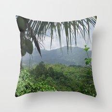 Puerto Rico Scenery Throw Pillow