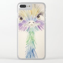 edward ostrich Clear iPhone Case