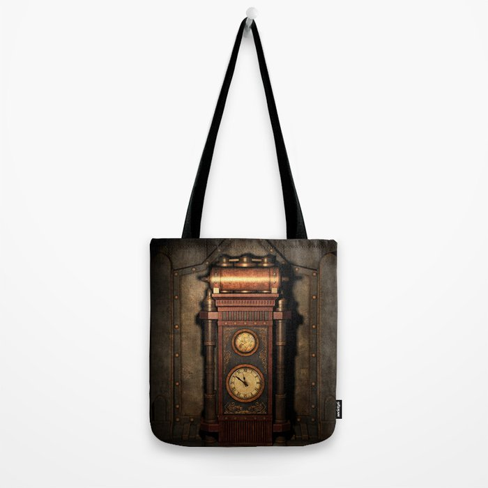 Steampunk Generator Bronze Tote Bag