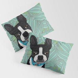 Tropical Boston Terrier Boy Pillow Sham