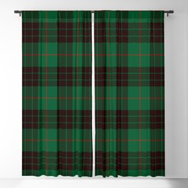 Dark Green Tartan with Black and Red Stripes Blackout Curtain