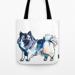 Winter - Dog Watercolour Tote Bag