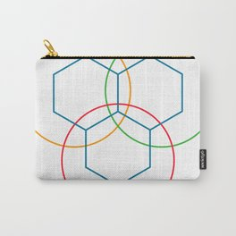 Triple hexagonal hive Carry-All Pouch