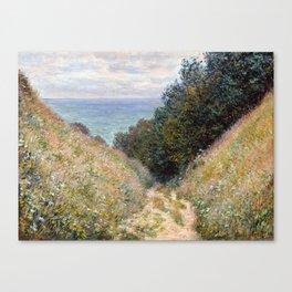 Road at La Cavée, Pourville by Claude Monet 1882 Canvas Print