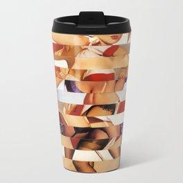 Glitch Pin-Up Redux: Amber Metal Travel Mug