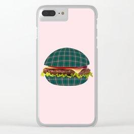 Hamburger-tartan Clear iPhone Case