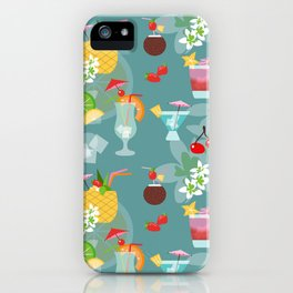Blue Hawaii Cocktail Hour iPhone Case