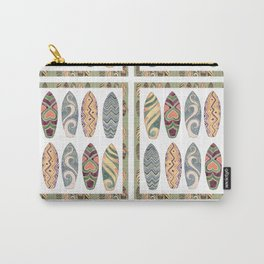 Surfboard Lovers Sun Sand Surf Typography Carry-All Pouch