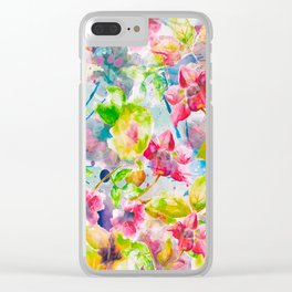 Watercolor Flowers Clear iPhone Case