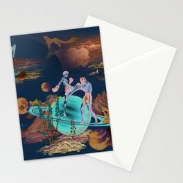 Muay Thai On Space Stationery Cards