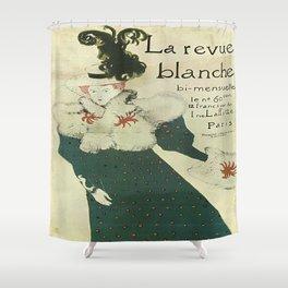Vintage poster - La Revue Blanche Shower Curtain
