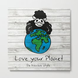 Love your Planet Metal Print