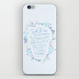 Seek First His Kingdom - Matthew 6:33 iPhone Skin