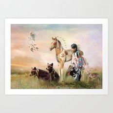 Little Warriors Art Print