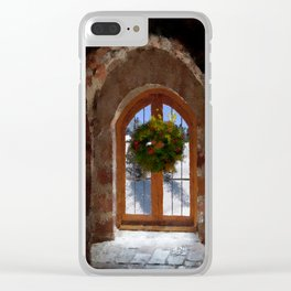 Christmas Wreath Clear iPhone Case