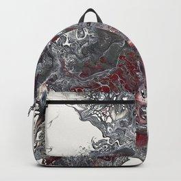 Red, Grey, Black and White Burst Backpack