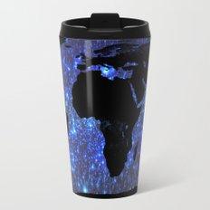 Worldmap travel mugs society6 world map blue galaxy stars travel mug sciox Image collections