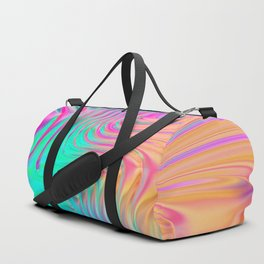 Abstract Colorful Waves Duffle Bag
