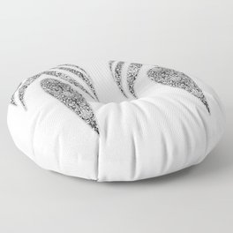 Jean flowers and arabesques Floor Pillow