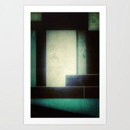 Faded Blue Art Print