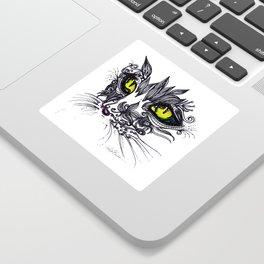 Intense Cat Sticker