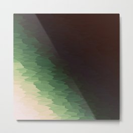 Forest Texture Ombre Metal Print
