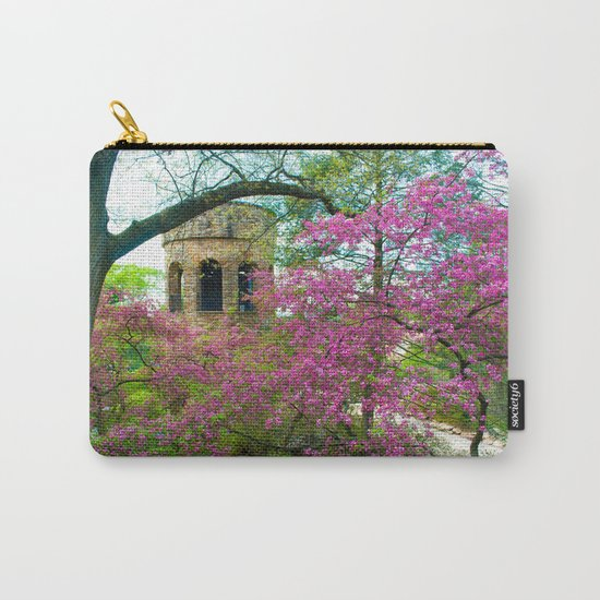 Bell Tower in Spring Carry-All Pouch