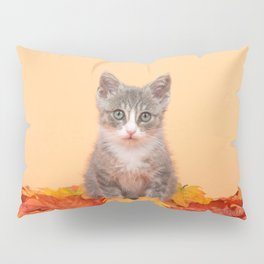 Autumn Kitten Pillow Sham