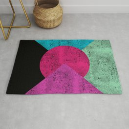 Colorful Abstract Geometric Background Rug