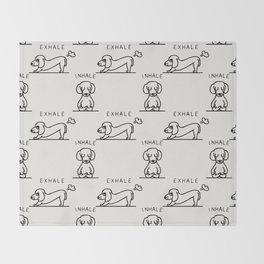Inhale Exhale Dachshund Throw Blanket