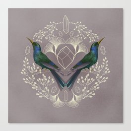 Endurance Crystal Grid in Mauve Canvas Print