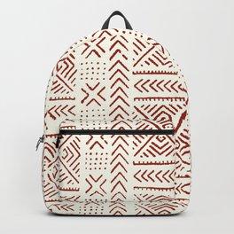 Line Mud Cloth // Ivory & Burgundy Backpack