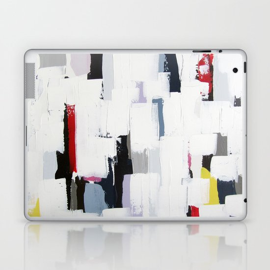 """No. 31 - Print of Original Acrylic Painting on canvas - 16"""" x 20"""" - (White and multi-color) Laptop & iPad Skin"""