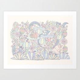 Animal Forest  Art Print