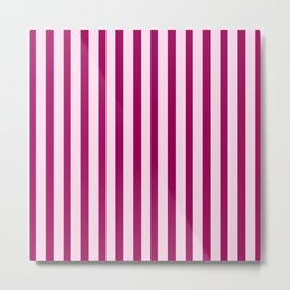 Happy Place Candy Stripes in Pink Metal Print