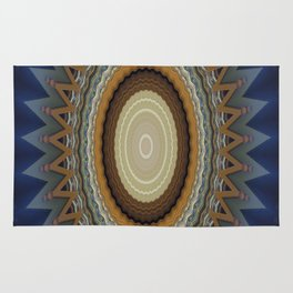 Blue kaleidoscope design Rug