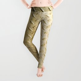 Gold Painted Metal Stylish Design Leggings