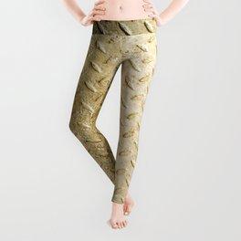 Gold Painted Metal Stylish Design Leggings