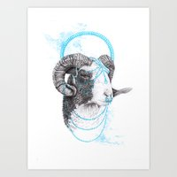 goat Art Prints featuring Goat by Emma Black
