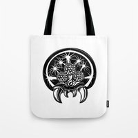 metroid Tote Bags featuring Metroid by Barrett Biggers