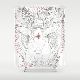 Deer, Oh Deer! Shower Curtain