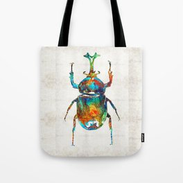 Colorful Beetle Art - Scarab Beauty - By Sharon Cummings Tote Bag