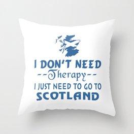 GO TO SCOTLAND Throw Pillow