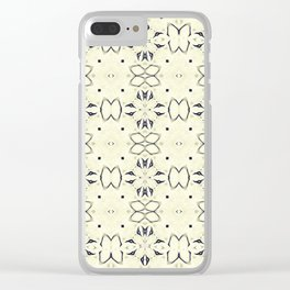 Bows & Butterflies Clear iPhone Case