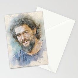 Jason Momoa Portrait Stationery Cards