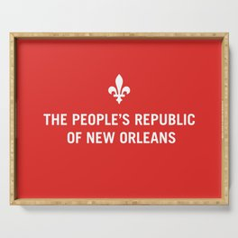 The People's Republic of New Orleans Serving Tray