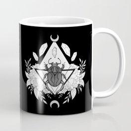 Scarab Queen // Black & White Coffee Mug