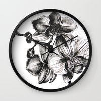 orchid Wall Clocks featuring orchid by GYYO