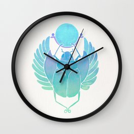 Egyptian Scarab – Turquoise Ombré Wall Clock