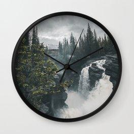 Athabasca Falls Alberta Wall Clock